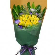 18pcs Yellow Roses Bouquet